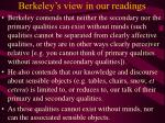berkeley s view in our readings