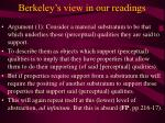 berkeley s view in our readings11