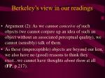 berkeley s view in our readings12