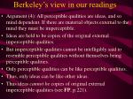 berkeley s view in our readings14