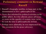 preliminary comments on bertrand russell27
