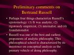 preliminary comments on bertrand russell28