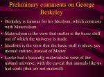 preliminary comments on george berkeley3