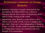 preliminary comments on george berkeley4