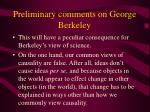 preliminary comments on george berkeley6