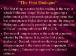 the first dialogue