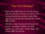 the first dialogue17