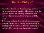 the first dialogue18