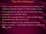 the first dialogue19