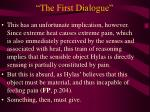 the first dialogue20