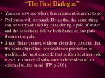 the first dialogue25