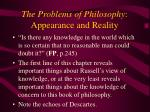 the problems of philosophy appearance and reality30