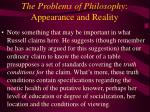 the problems of philosophy appearance and reality34