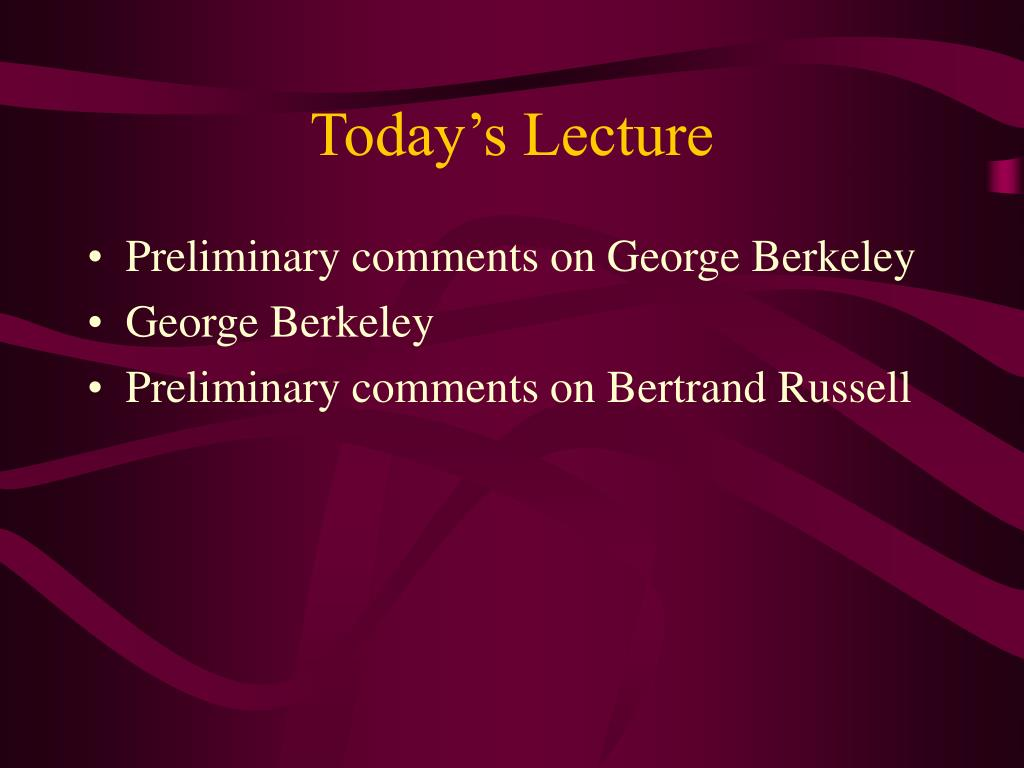 today s lecture l.