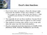 excel s date functions