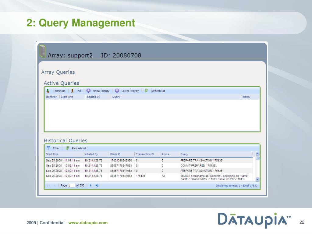 2: Query Management