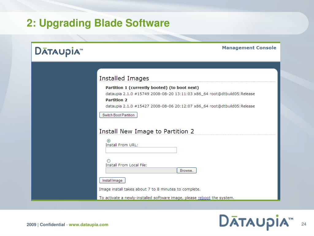 2: Upgrading Blade Software