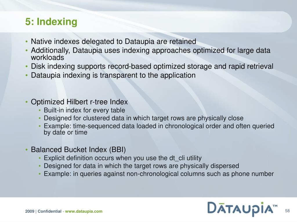5: Indexing