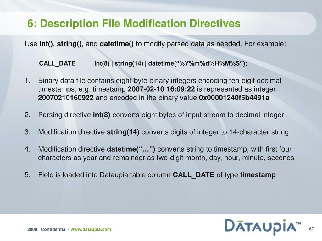 6: Description File Modification Directives
