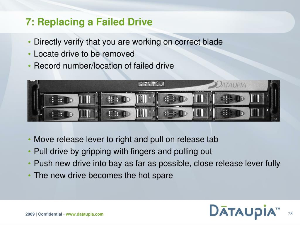 7: Replacing a Failed Drive