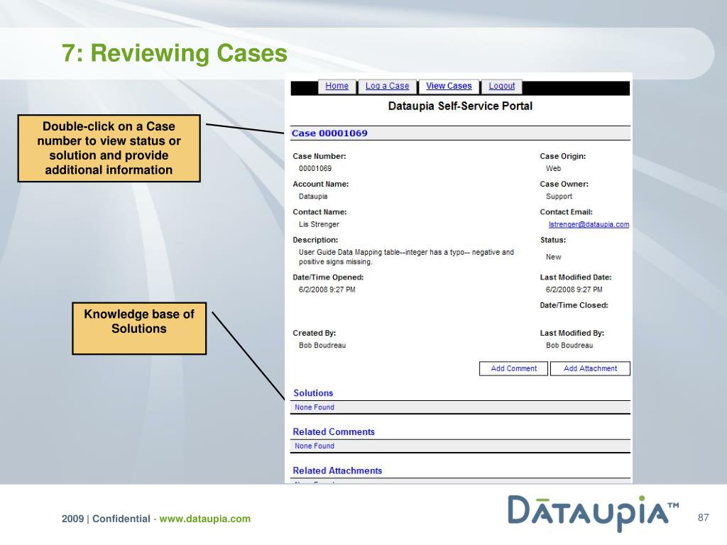 7: Reviewing Cases