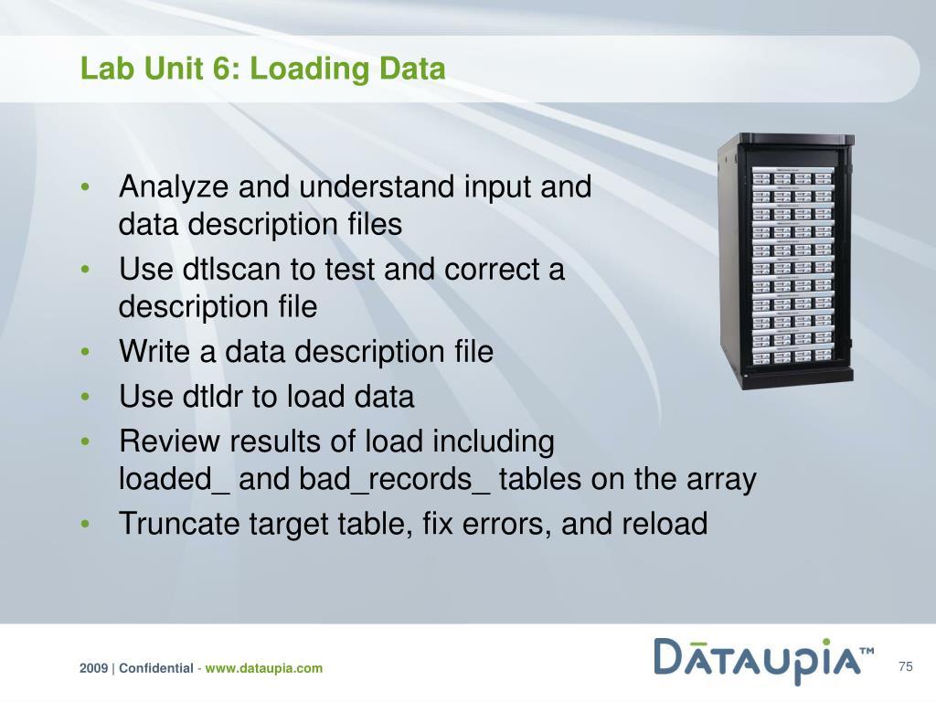 Lab Unit 6: Loading Data