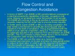 flow control and congestion avoidance