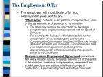 the employment offer