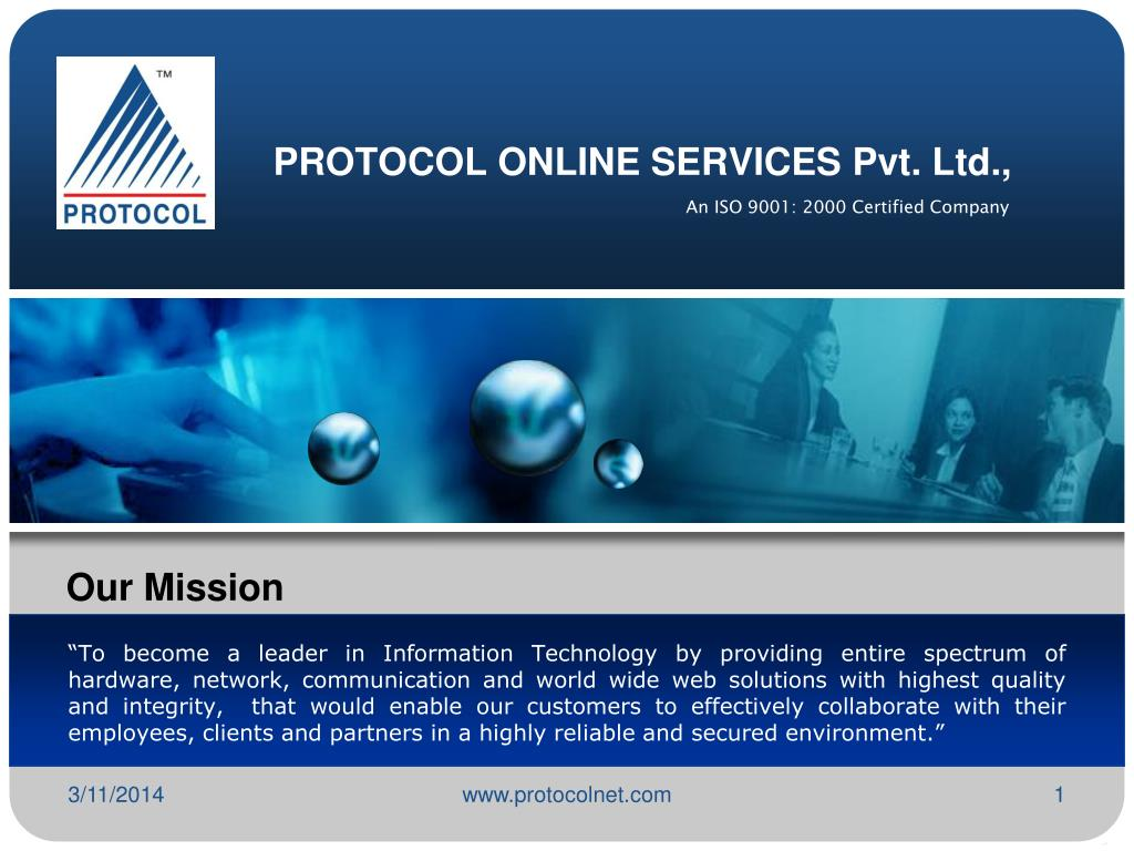 PROTOCOL ONLINE SERVICES Pvt. Ltd.,