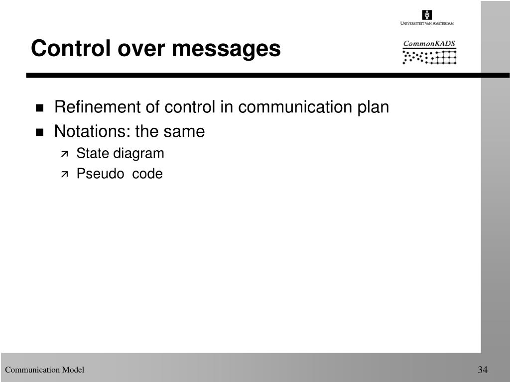 Control over messages