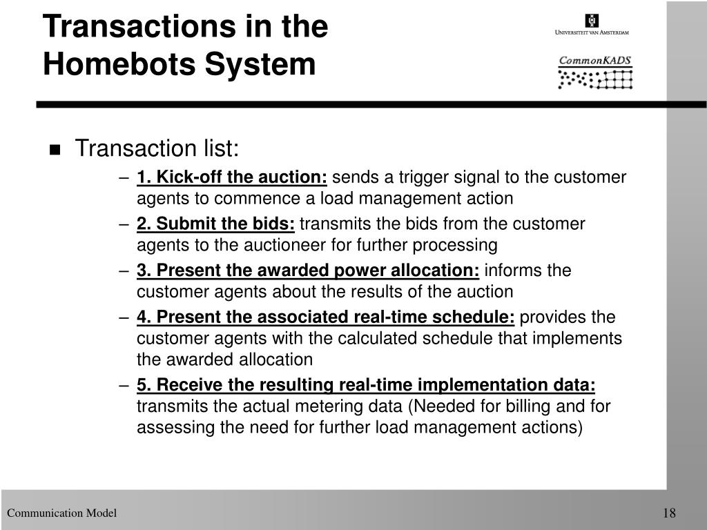 Transactions in the