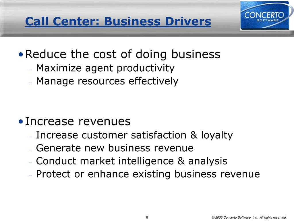Call Center: Business Drivers