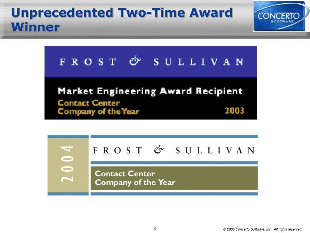 Unprecedented Two-Time Award Winner