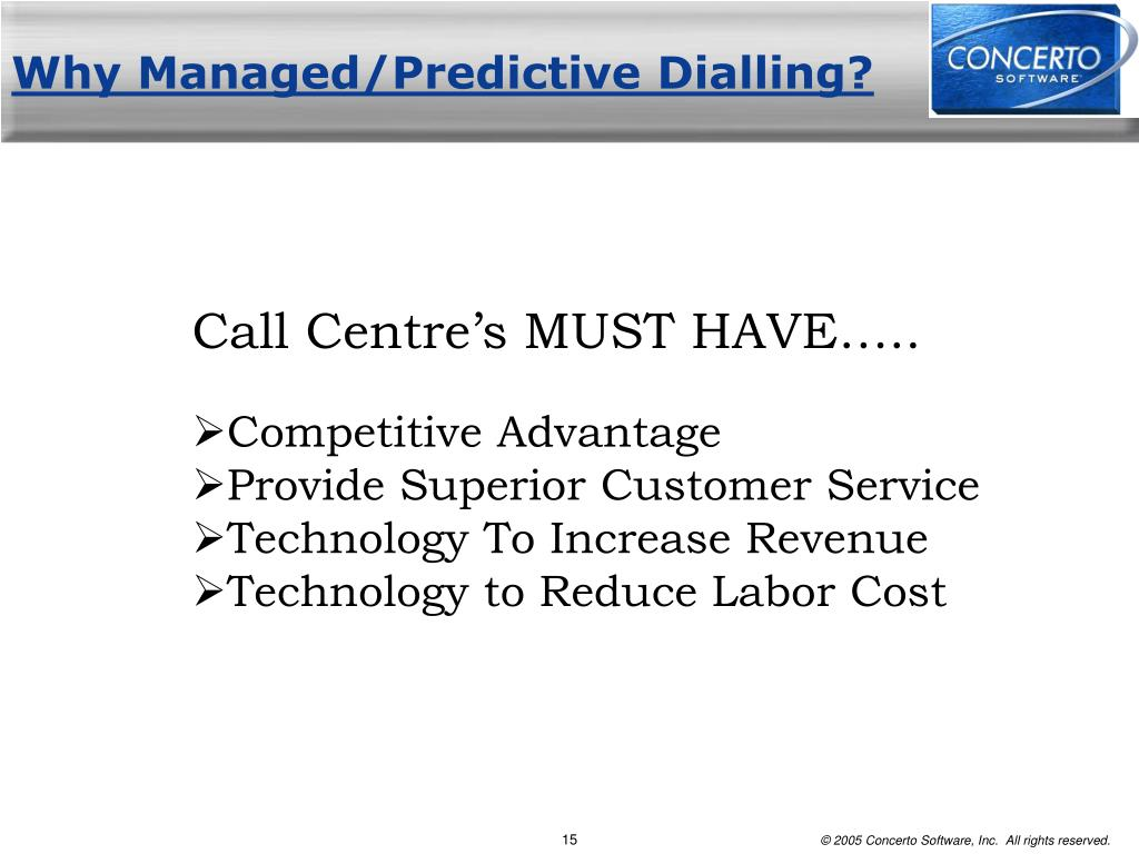 Why Managed/Predictive Dialling?