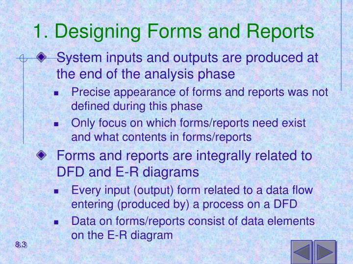 1 designing forms and reports