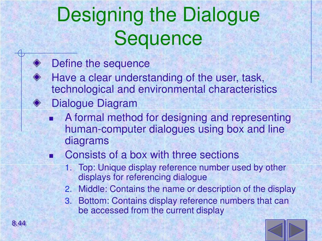 Designing the Dialogue Sequence