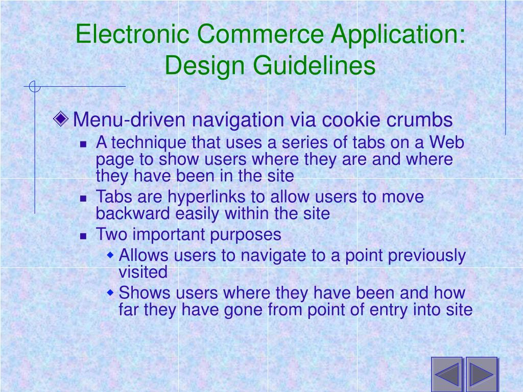 Electronic Commerce Application: