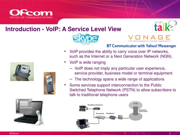 Introduction voip a service level view