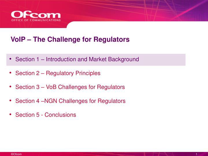 Voip the challenge for regulators2