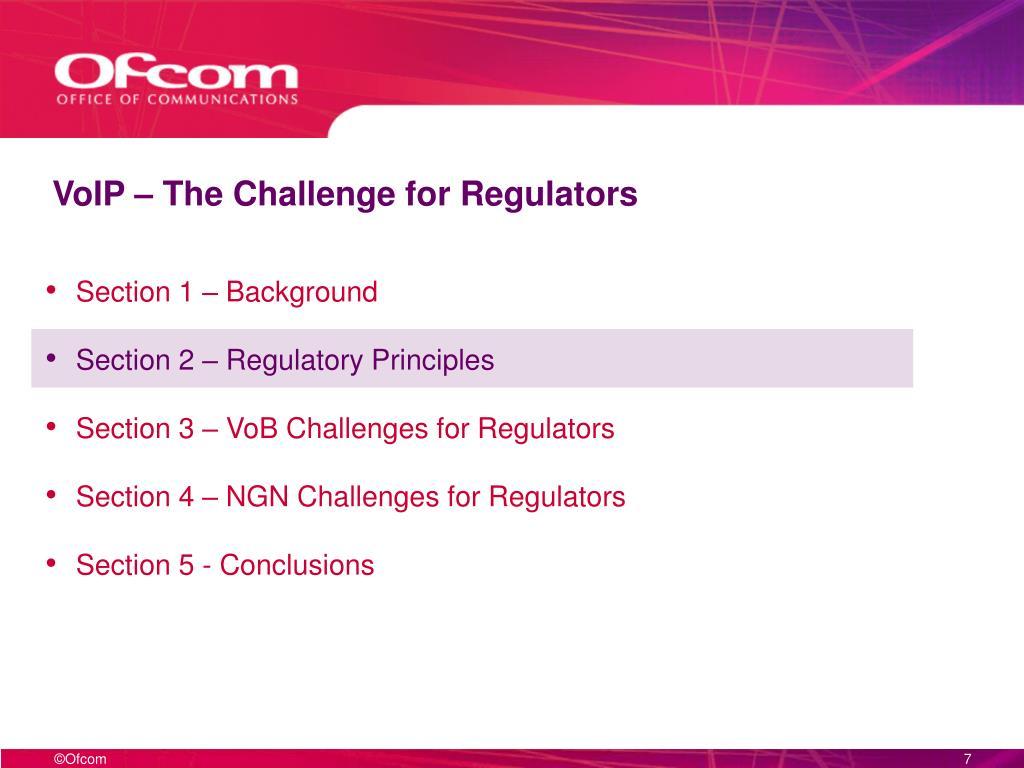 VoIP – The Challenge for Regulators