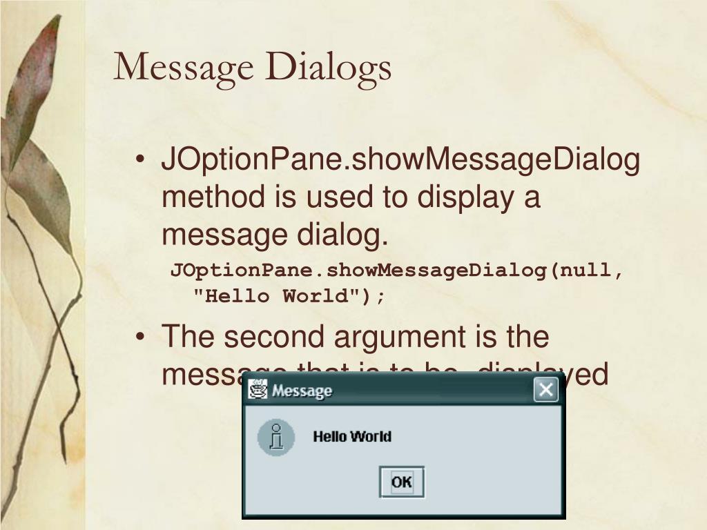 Message Dialogs