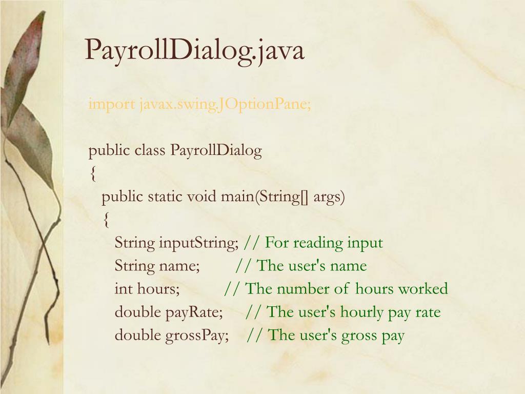 PayrollDialog.java
