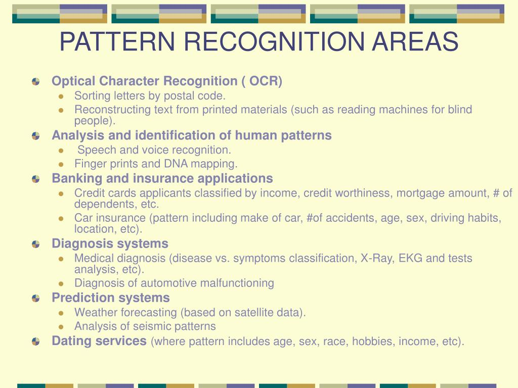 PATTERN RECOGNITION AREAS