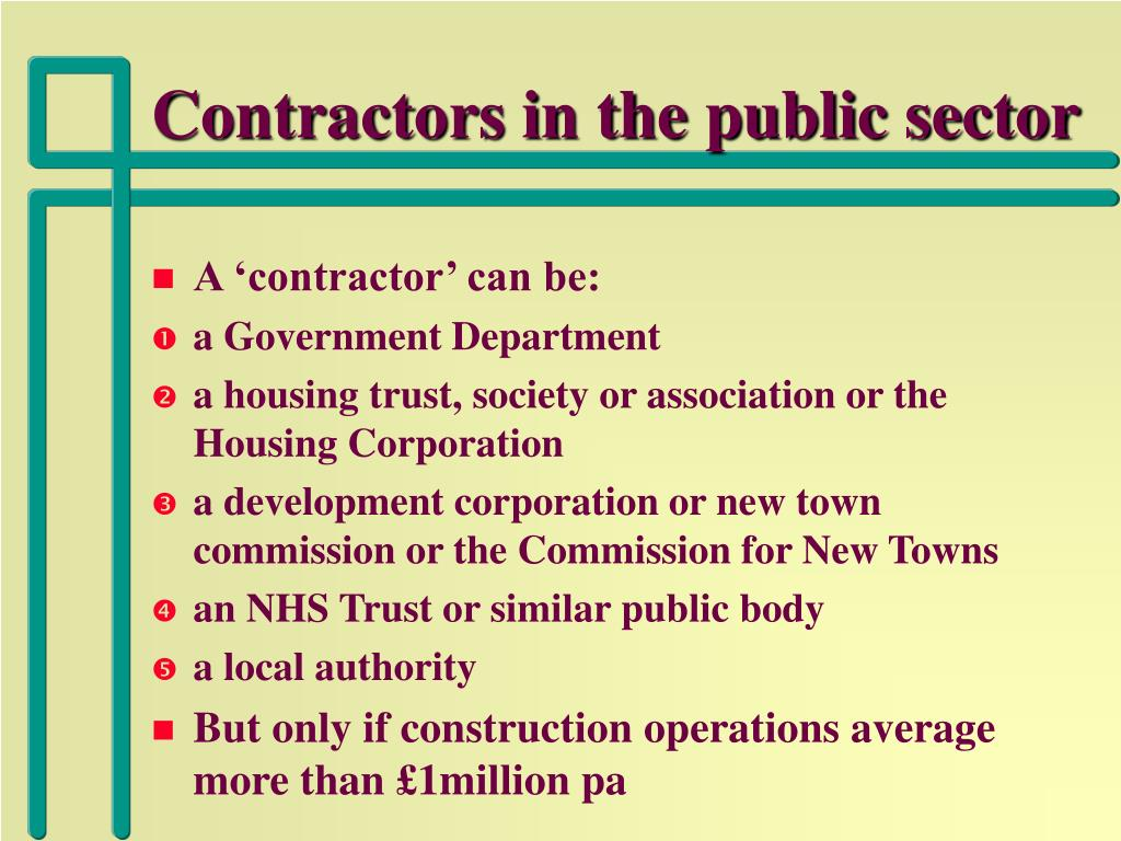 Contractors in the public sector
