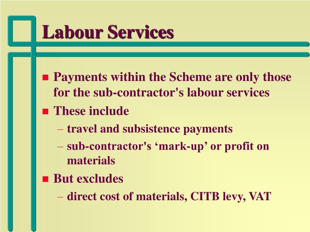 Labour Services