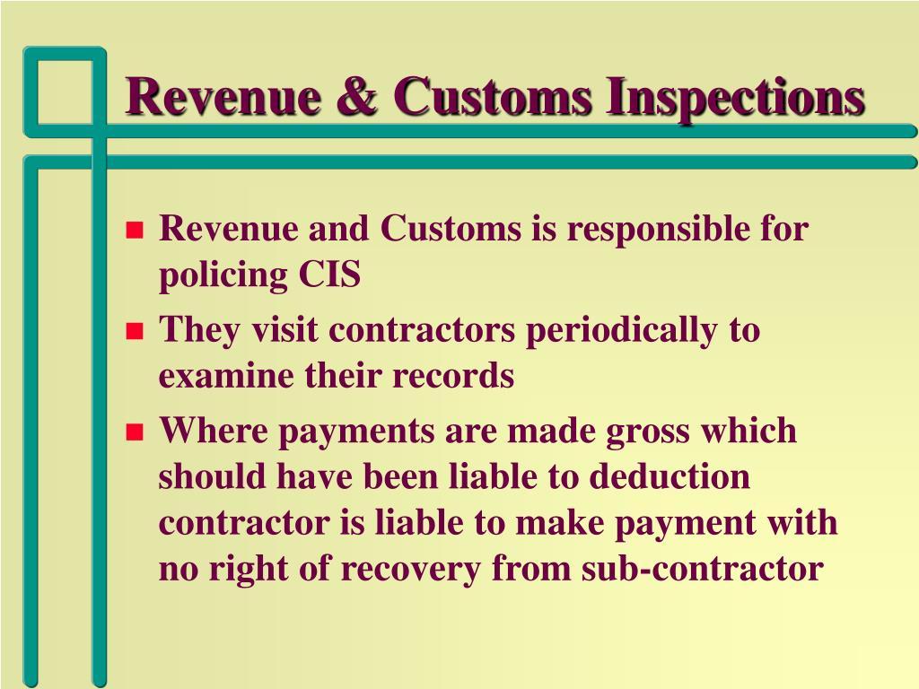Revenue & Customs Inspections
