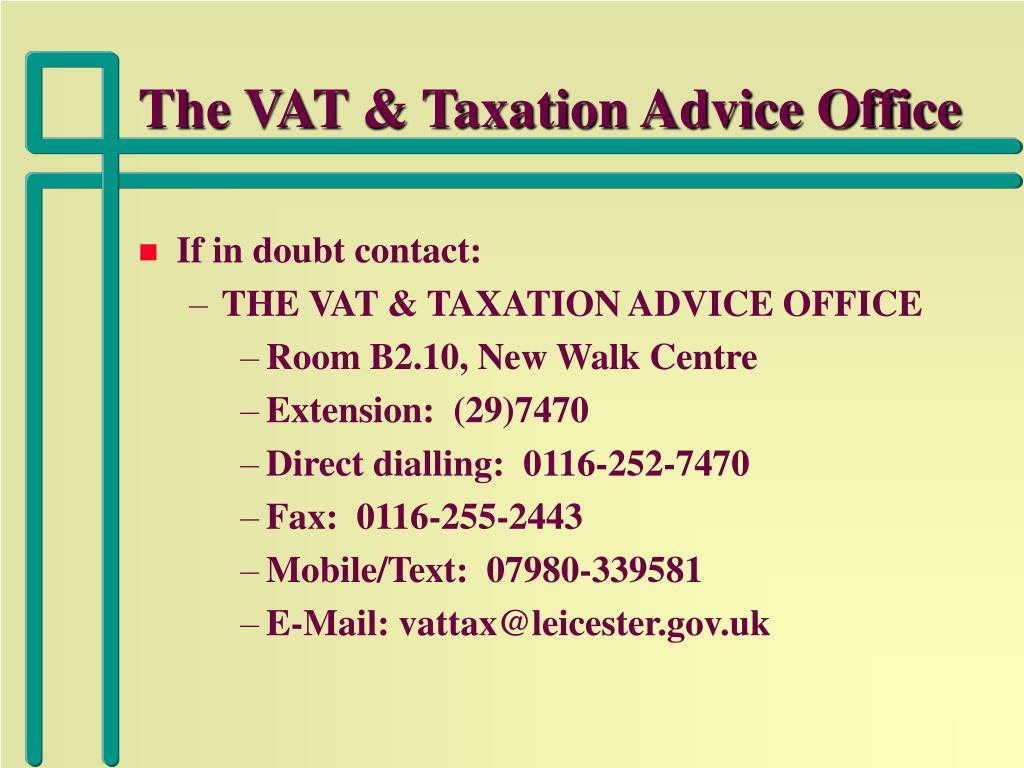 The VAT & Taxation Advice Office