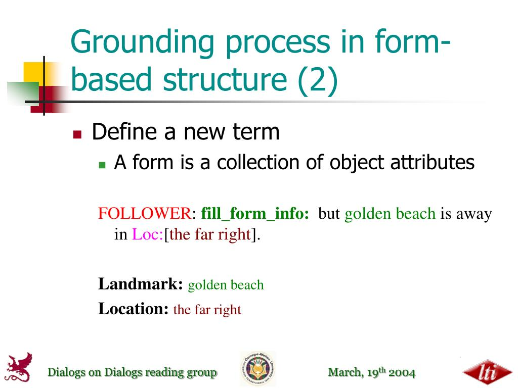 Grounding process in form-based structure (2)