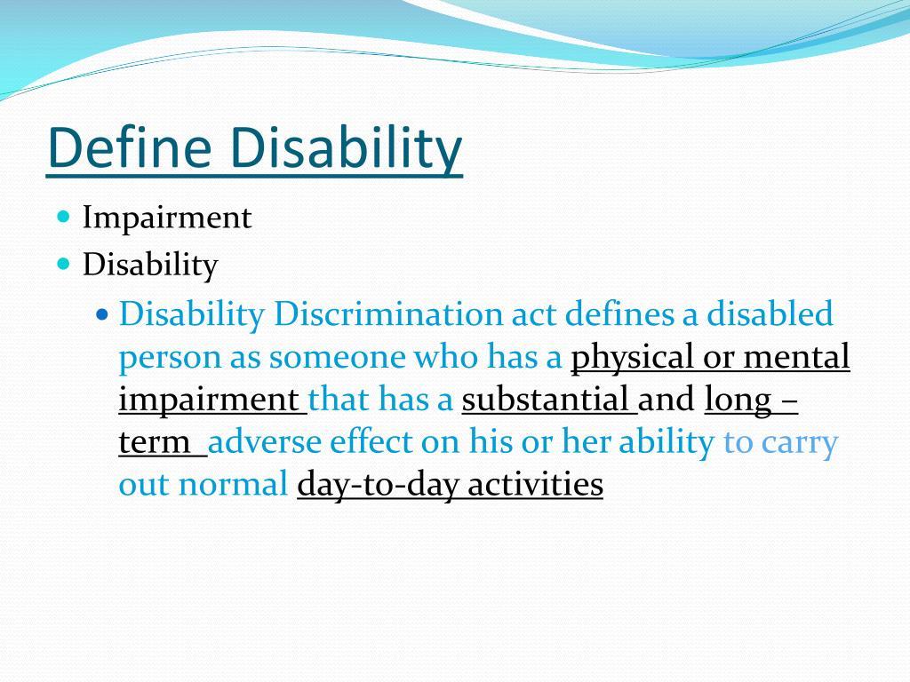 Define Disability