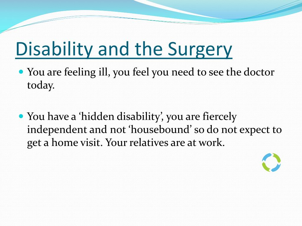 Disability and the Surgery